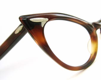 Vintage 50s Pointy Cat eye Eyeglasses Sunglasses French Frame