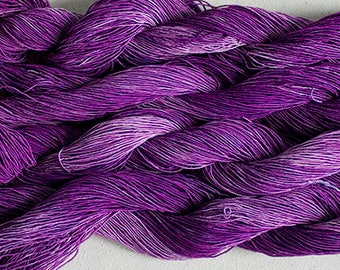 Rayon Gimp, 150 yds, Hand painted yarn for jewelry - Grape