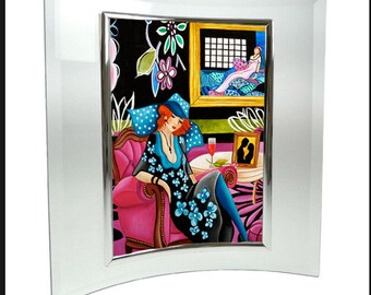 Print, Art Print, Wall art, Home Decor, Art Deco print, Small print, Framed Print, Glass frame,