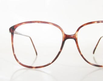 ON SALE Vintage Tura Oversized Dark Brown Amber 1980s Womens Wayfarer Glasses 80s Eyeglasses Indie Hipster Chic Boho Bohemian Deadstock New