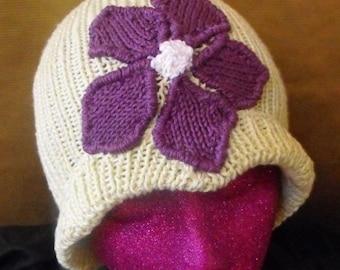 HALF PRICE SALE Instant Digital File Pdf Download Knitting Pattern - Granny Violet Cloche Hat knitting pattern - madmonkeyknits