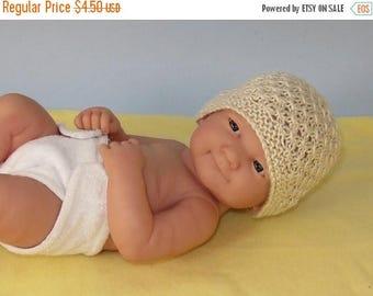 50% OFF SALE Instant Digital File PDF Download knitting pattern - Preemie, Tiny & Newborn Baby 3 Stitch Lace Beanie