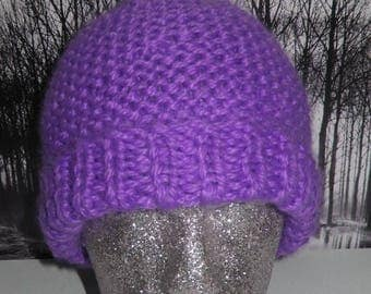 50% OFF SALE Instant Digital File pdf download knitting pattern for sale- superfast garter stitch beanie hat pdf knitting pattern