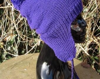 50% OFF SALE Instant Digital File PDF Download knitting pattern - Big Bobble Trapper Slouch Hat pdf download knitting pattern by Madmonkeykn