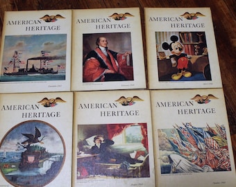 American Heritage Magazine, Hardback, Vol. XIX Nos. 1 through 6, 1967-68