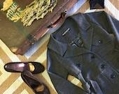 Trench Coat / Belted Jacket / Work Clothes / Long Jacket / Modern Minimal Style / Grey Jacket / Organic Cotton / Notch Collar / Ecofriendly