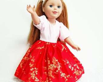 """Doll Dresses, 18 inch doll dress set, Four 18"""" doll dresses, Ballroom doll's gowns, set of doll dresses for one price!"""