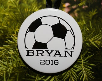 Soccer Name Christmas Ornament - customized - C195