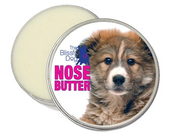 Mixed Breed NOSE BUTTER® All Natural Handcrafted Balm for Crusty Dry Dog Noses 2 oz. Tin in Gift Bag with Mixed Cross-breed Puppy Label