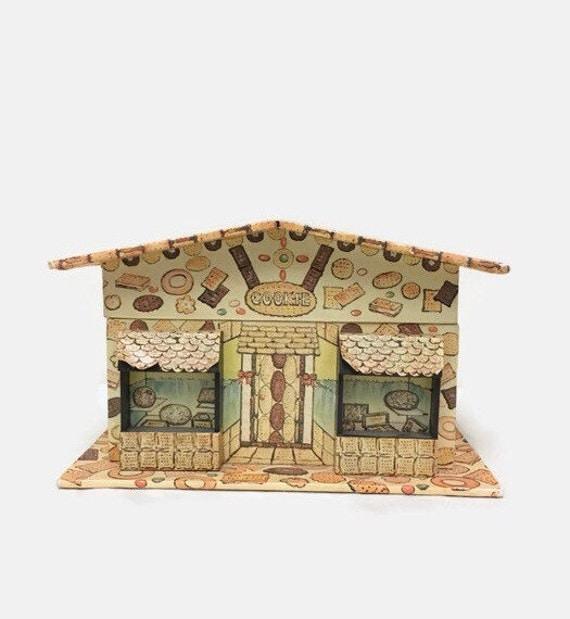Vintage Musical Jewelry Box - Farrington Cookie Shop - Wind Up Ballerina, Music - Cardboard