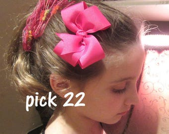 Boutique Bows, Girls Hairbows, Baby Headbands, Medium Hair Bows, Loopy Hair Bows, 4 inch Hair Bows, Lot Set of 22 Hair Bows, Wholesale Bows