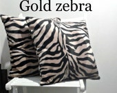 """18"""" pair cushions in giraffe, zebra or cow soft fur animal print fabric, washable, inserts not included"""