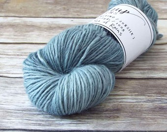 DK Yarn, Hand Dyed Alpaca/Merino/Silk Yarn, Hand Dyed Merino Yarn, Knitting Yarn, Handpainted, Double Knit Weight, Sea of Rains
