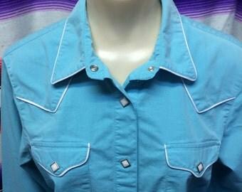 Medium womens vintage roper western shirt