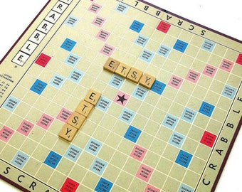 Shop Sale Vintage 1970s Game / Scrabble Board Game 1976 Like-New Complete