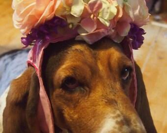 Dog's Pink Spring flower hat