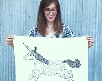 Unicorn Tea Towel, Unicorn Dishcloths, Magical Animal Tea Towels, Gift For Animal Lovers, Unicorn Gift For Her, Magical Tea Towels