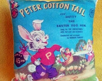 Peter Cotton Tail Vintage Image Easter Pillow Bowl Filler