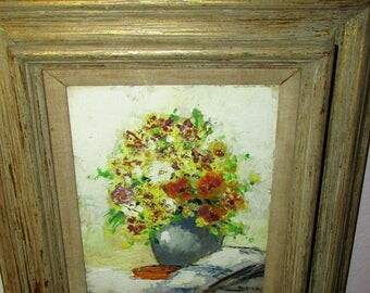 ISRAELI WOMEN Jewish Artist Oil Painting Yurika Mann Ambassador Of Art Flower Picture