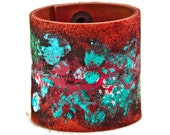 Handmade Cuffs Wide Bracelets Jewelry - Ideas For Gifts, Unique, Boho Gypsy Jewellery, Snap Closure