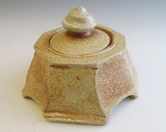 Faceted Soda Fired Jar