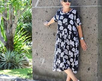 BATIK, Made Smock Dress, Size 10-26, Plus Size,Choice of Hand Printed Fabrics