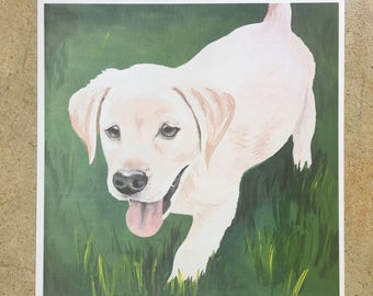 Spring Clearance Sale Print Lab puppy original painting