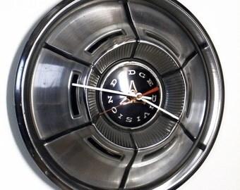 1970 - 1971 Dodge Hubcap Clock - Charger Challenger Dart Demon Coronet - Mopar Muscle Car Hub Cap