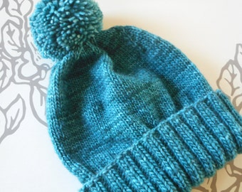 Luxurious Womens Knit Hat/Hand Knit Womens Hat/Pom Pom Hat for Women/Ski Hat/Womens Knit Hat