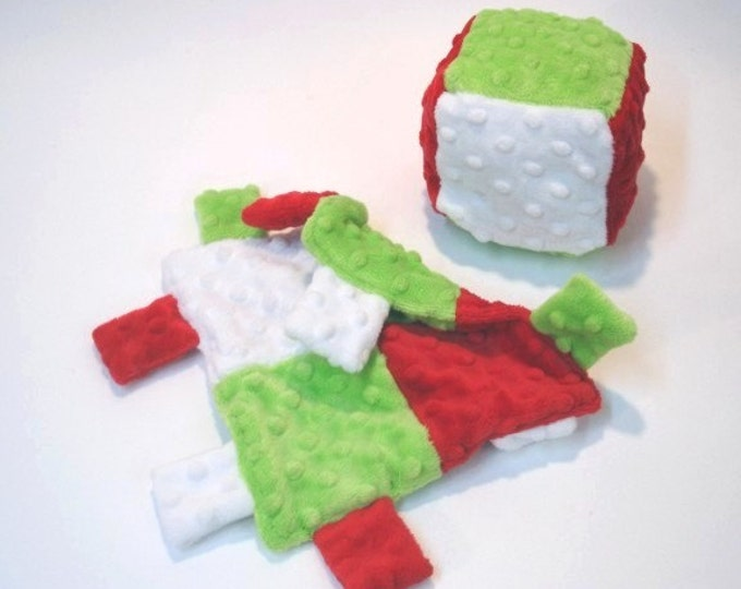 Christmas Soft Block and Mini Lovey