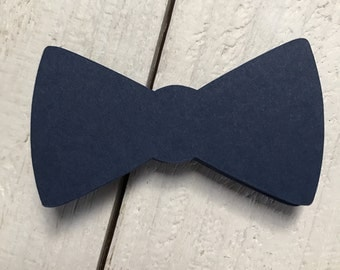 "15 Bow Tie 3"" Die Cuts Tags Toppers Baby Shower"