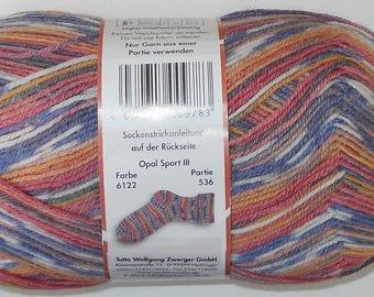 Opal Sock Yarn Sport 100g/465yds #6122