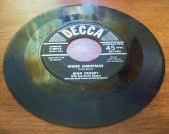 bing crosby white christmas 45 record