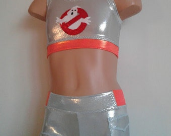 Dancewear. Ghostbusters Inspired Dance Set. 2 Piece Dance Cheer Set. Performance Costume.  SIZES 2T - Girls 12