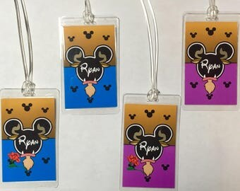 Disney BEAST Luggage Tag or BELLE Luggage Tag - Beauty and the Beast Mickey Mouse Themed - Laminated 10mil