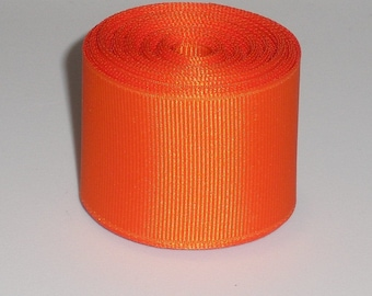 Orange 1.5 inch Solid Grosgrain Ribbon 10 Yards