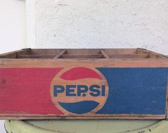 Wood Pepsi Cola Crate