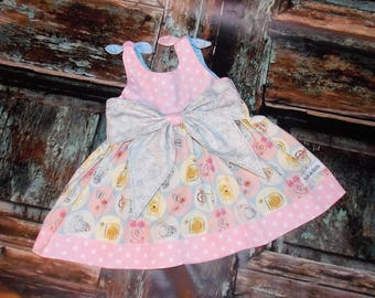 Winnie the Pooh Baby Big Bow Dress 0 3 6 12 18 24M Custom Boutique Birthday Made in USA Infant Shower Gift Tigger Eeyore Piglet Disney
