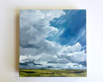 "Spring Field • original 8x8"" oil painting"