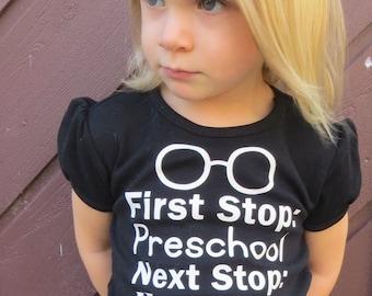 Harry Potter Inspired Preschool shirt/ Hogwarts/ Preschool/ Custom Shirt/ Vinyl Shirt Design/ Harry Potter/ Wand/ Glasses/ Toddler/ Child