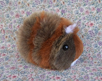 Custom Brown & Red Guinea Pig Handmade Plush Toy RESERVED