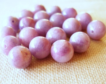 Lavender Beads, 20 Pieces, 8mm