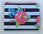 Reusable Sandwich Bag - Floral Stripes
