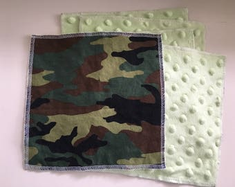 Cloth Minky Wipes, Baby Shower Gifts- 5 pack - Camo