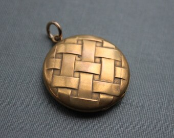 Victorian Basket Weave Locket by Horton & Angell HA and Co.