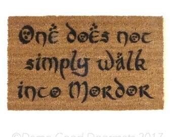 Tolkien - One does not simply walk into Mordor- Boromir geek nerd nerdy doormat eco friendly outdoor