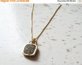 2016 SALE 10% OFF - 14k Gold coin Necklace / Gold Necklace / Ancient Gold Pendant / One Of A Kind Necklace / Coin Pendant / Ancient coin Jew