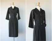 1940s Black Faille Suit | 1940s Skirt Suit | 40s Ladies Suit | 1940s Suit | 40s Suit