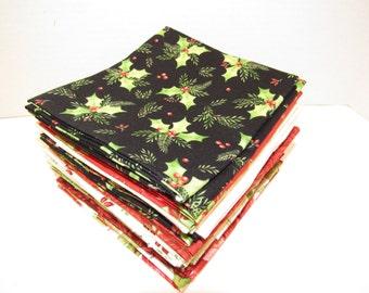 Fat Quarter Bundle Songbird Christmas 100% Cotton Fabric Maywood Studio 20 FQs