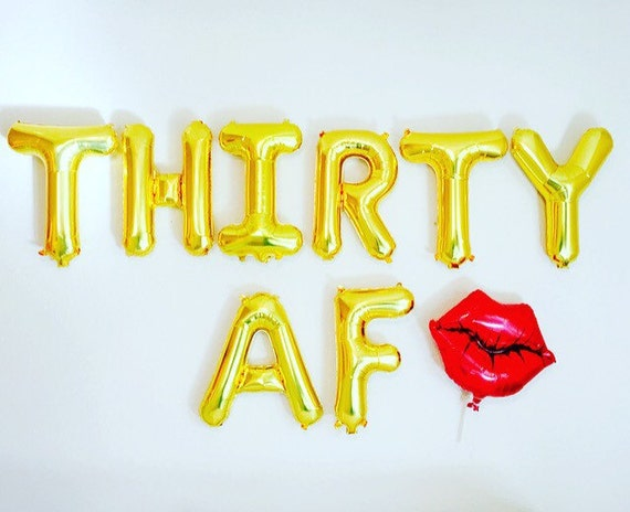 Thirty af balloons dirty 30 party dirty 30 30th birthday for 30 birthday decoration